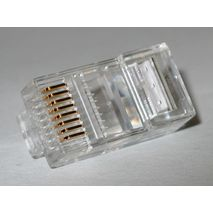 10 x RJ45 crimp on connectors for CAT 5 Network Cable