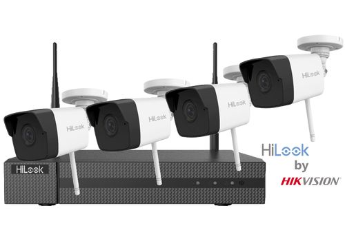 HiLook by Hikvision Wireless 2MP CCTV Kit (4 Camera -  IK-4142B-MH/W) 1TB
