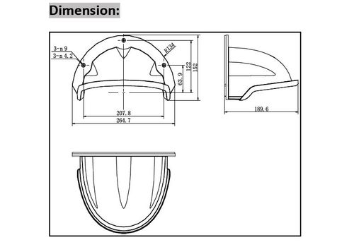 Hikvision DS-1250ZJ Rain Shade for Hikvision and other brand cameras.