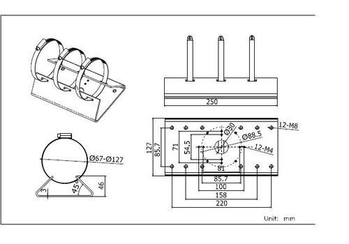 Hikvision DS-1275ZJ Pole mount