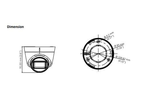 Hikvision DS-2CE78H0T-IT3FS 5MP fixed lens EXIR turret camera with audio  (AOC) - Hikvision HDTVI Range | Hikvision