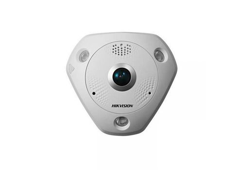 Hikvision DS-2CD63C5G0-IVS 12MP fisheye IP camera with audio